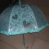 Зонт детский прозрачный бирюза