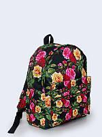 Стильный рюкзак Розы арт с оригинальным цветочным принтом.