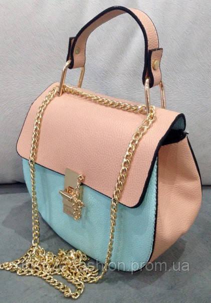Бирюзовый клатч, женская сумка клатч через плечо Chloe