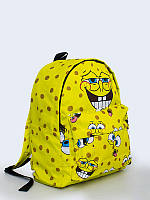 Классный рюкзак Спанч Боб с принтом мультяшного героя.