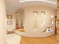 Обшивка радиусных стен гипсокартоном с установкой металлокакаса