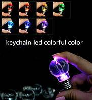 Оригинальный брелок лампочка разноцветный