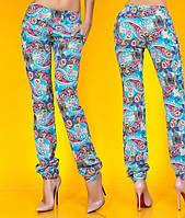 Женские штапельные штаны с карманами