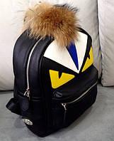Рюкзак черный с глазами