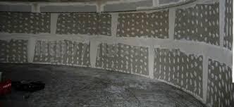 Устройство перегородки из гипсокартона радиусной на металлическом каркасе