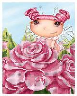 """Схема для частичной зашивки бисером - """"Фея роз"""""""