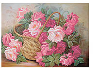 """Схема для частичной вышивки бисером - """"Корзина роз"""" , фото 1"""