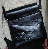Кожаная сумка Polo Buluo, черная, фото 1
