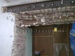 Устройство, армирование проема в кирпичной стене до 300 мм