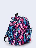 Креативный рюкзак Цветные перья с красочным принтом.