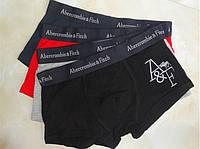 Мужские трусы боксеры Abercrombie & Fitch  с вышитым логотипом