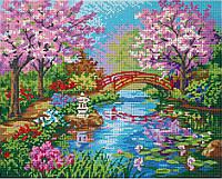 """Схема для полной зашивки бисером - """"Японский сад"""""""