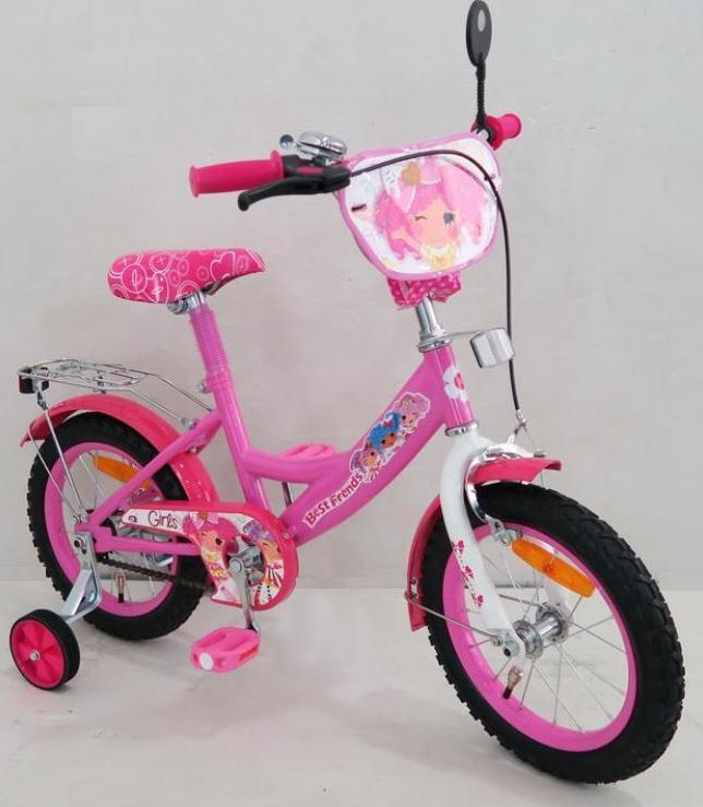 """Детский двухколесный велосипед 16"""" 161602 со звонком, зеркалом"""