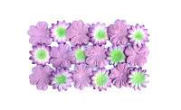 Цветочки из шелковичной бумаги, лаванда