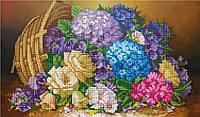 """Схема для частичной вышивки бисером -""""Корзина цветов"""""""