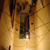 Металлический кассетный потолок армстронг. Супер золото