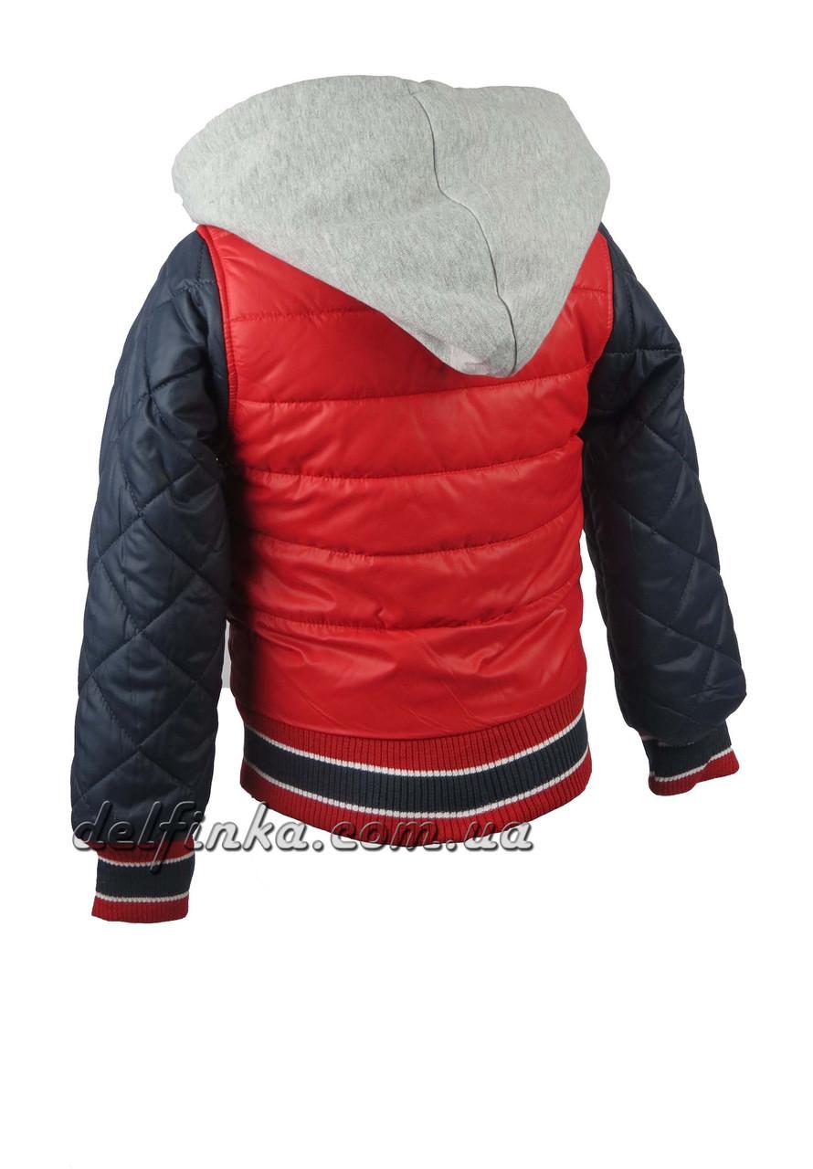 Куртка  для мальчиков  демисезонная 3-7 лет цвет красный с синим, фото 2