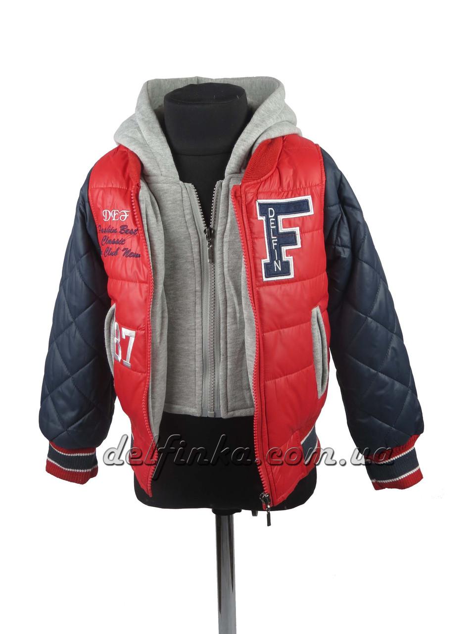 Куртка  для мальчиков  демисезонная 3-7 лет цвет красный с синим, фото 3