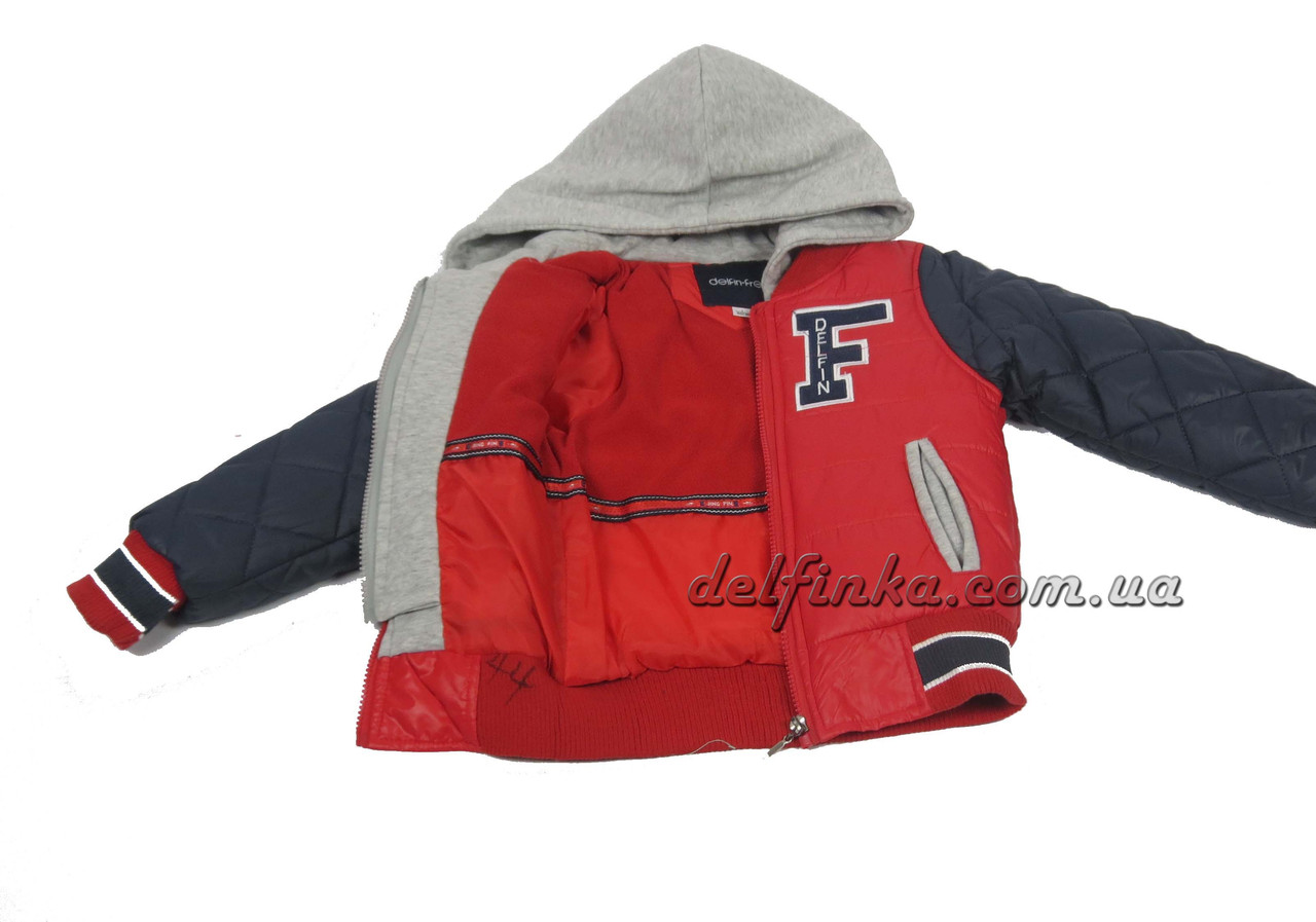 Куртка  для мальчиков  демисезонная 3-7 лет цвет красный с синим, фото 4