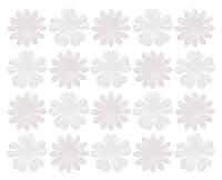 Цветочки из шелковичной бумаги, белые