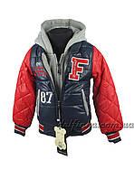 Куртка  для мальчиков  демисезонная 3-7 лет цвет синий