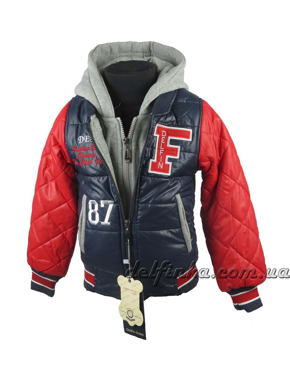 Куртка  для мальчиков  демисезонная 3-7 лет цвет синий, фото 1