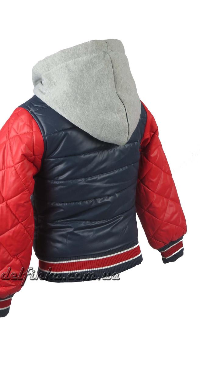 Куртка  для мальчиков  демисезонная 3-7 лет цвет синий, фото 2