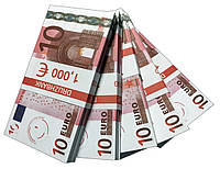 """Деньги сувенирные """"10 Euro"""" (1,000€) пачка денег"""