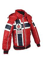Куртка  для мальчиков, теплая,  демисезонная размеры с 98 до 146 цвет красный