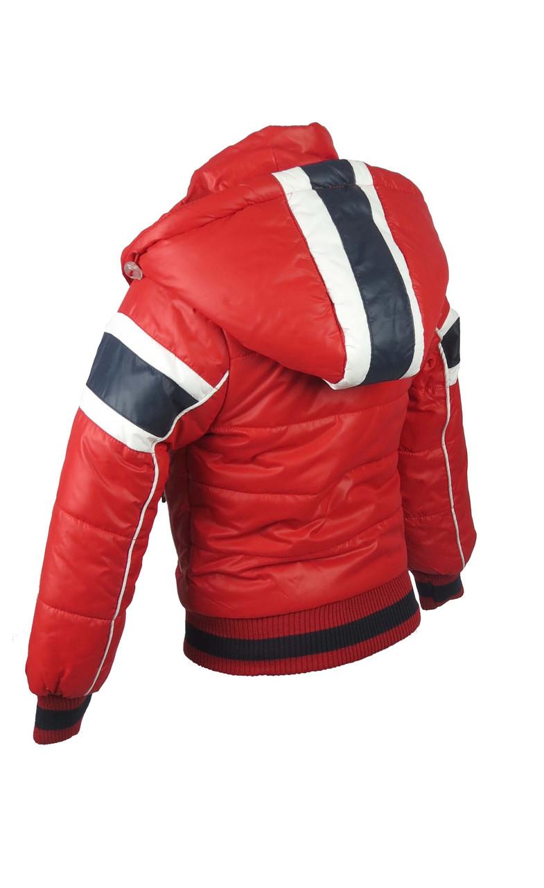 Куртка  для мальчиков, теплая,  демисезонная 2-6 лет цвет красный, фото 2