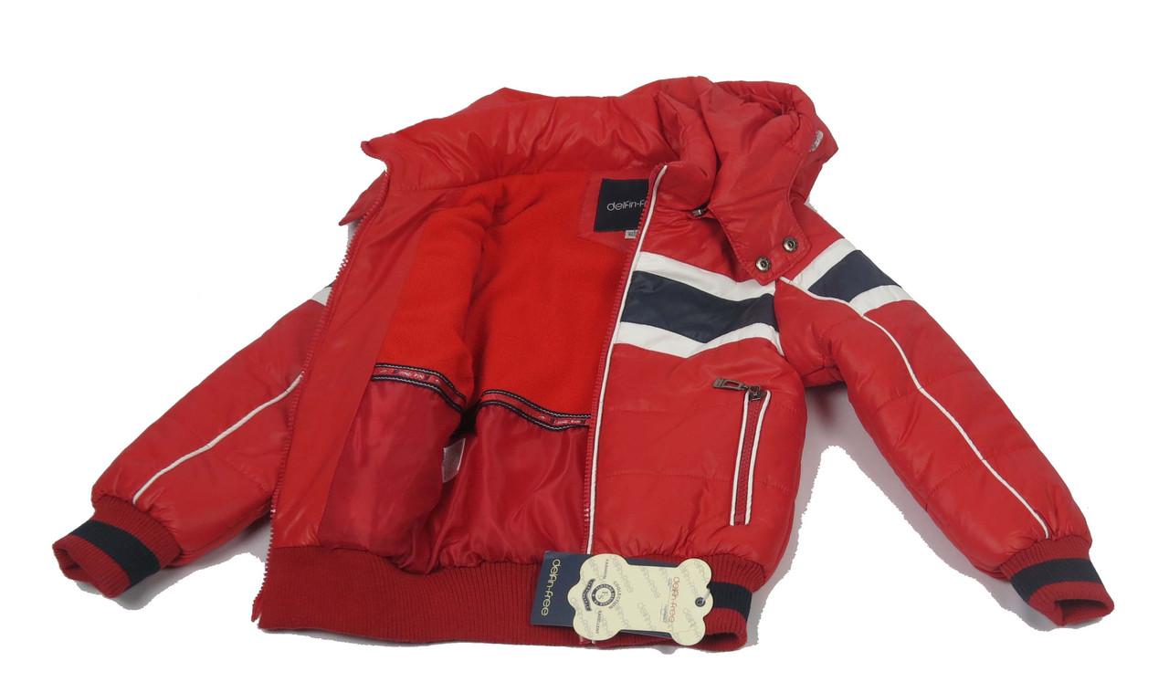 Куртка  для мальчиков, теплая,  демисезонная 2-6 лет цвет красный, фото 3
