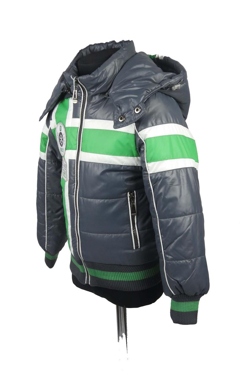 Куртка  для мальчиков, теплая,  демисезонная 7-12 лет цвет серый, фото 2