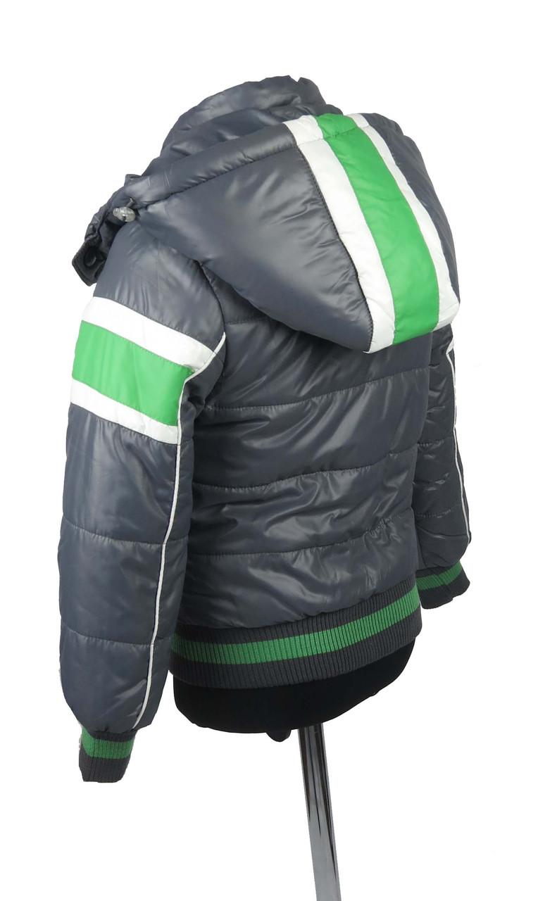 Куртка  для мальчиков, теплая,  демисезонная 7-12 лет цвет серый, фото 3