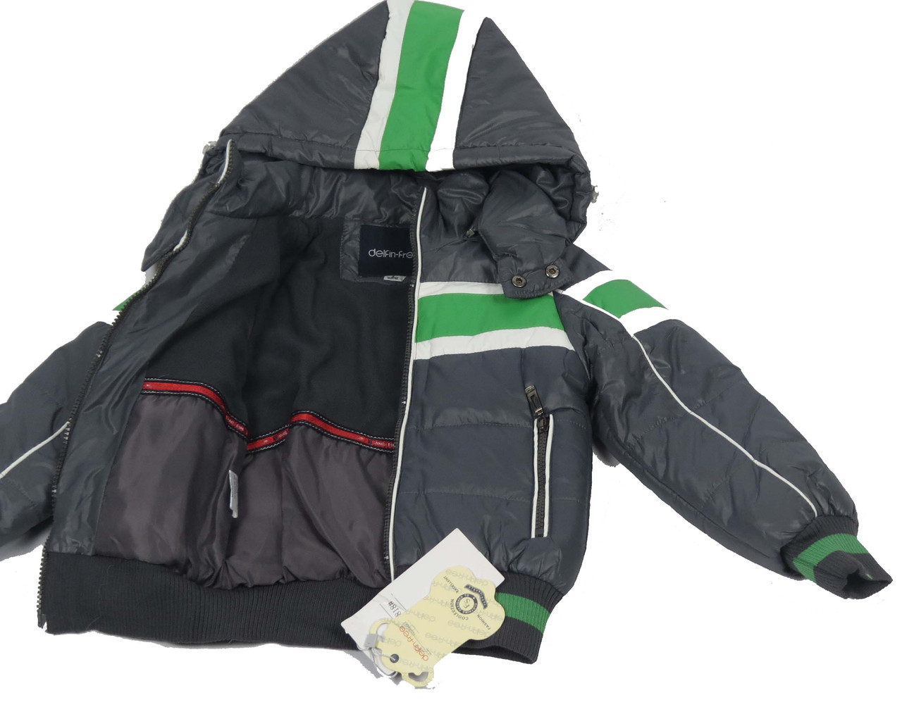 Куртка  для мальчиков, теплая,  демисезонная 7-12 лет цвет серый, фото 4