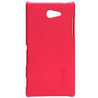 Чехол Nillkin для Sony Xperia M2 D2305 D2302 красный (+плёнка)