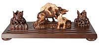 Эксклюзивный деревянный настольный набор Собаки с кабаном