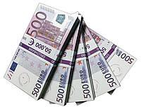 """Деньги сувенирные """"500 Euro"""" (50,000€) пачка денег"""