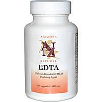 ЭДТА (EDTA), Arizona Natural, 600 мг, 100 капсул. Сделано в США.