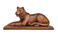 Эксклюзивная деревянная статуэтка Тигр ручной работы