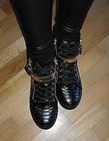 Стильные весенние ботиночки сникерсы под рептилию без скрытой танкетки 37,38,39,40,41