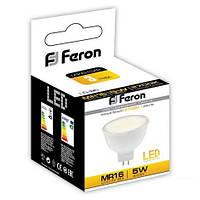 Светодиодная лампа Feron MR-16 LB96 5W с матовым стеклом