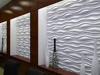Облицовка стен 3D панелями (без покраски)