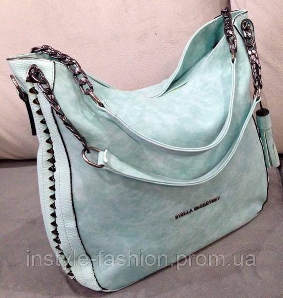 Нежно голубая сумка стелла маккатни -супер модная и стильная сумка