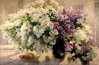 Алмазная вышивка Цветы в пастельных тонах KLN 30*20 см (арт. FS126)