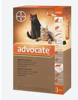Капли на холку Адвокат для котов до 4кг против гельминтов, эктопаразитов