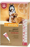Краплі на холку Адвокат для собак 10-25 кг проти гельмінтів, ектопаразитів