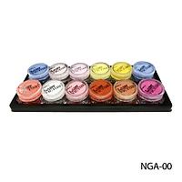 Набор MIX - NGA-00 для дизайна и моделтрования ногтей акрилом (12 цветов, по 7 г)