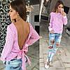Полосатая блузка с открытой спиной