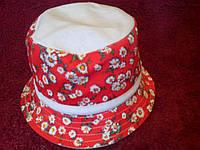 Детская летняя шляпка с бантиком
