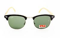 Очки Ray Ban Clubmaster Black-Silver-Lemon-Green 7208